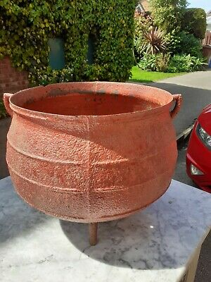Antique cast iron cauldron gypsy  cooking pot