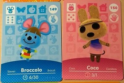 Animal Crossing Amiibo Cards-  Series 2 (New, Unscanned) Pick and Choose