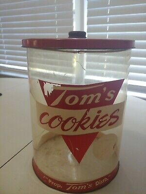 Tom's Cookies Vintage and Rare Plastic Container
