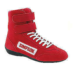 Simpson Safety High Top Shoes 10 Red PN 28100R