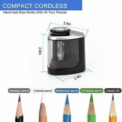 Automatic Electric Battery Operated Pencil Sharpener Desk School Office **