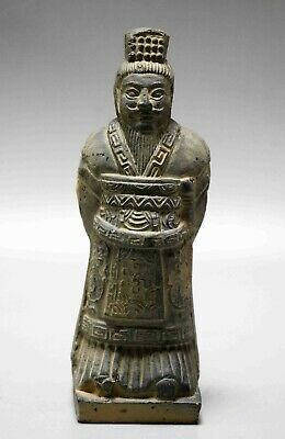 Collectable Noble Qin Dynasty Chinese Carved Terracotta Warriors Statue A