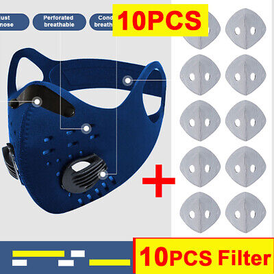 Mesh Breathable Face Shield Activate Carbon Filter Anti Dust Mouth Cover Outdoor