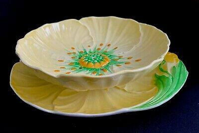 Strawberry Bowl Set Charming Vintage Carlton Ware England 2-Piece Buttercup