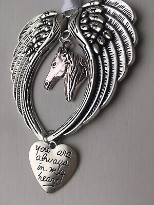 Horse Memorial Gifts Hanging Decoration Heart Pet Loss Gift