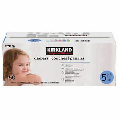 Kirkland Signature Supreme Diapers Size 5: 27lbs and up, 150ct   FREE SHIPPING