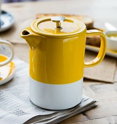 La Cafetiere 6 Cup BARCELONA CAFETIERE French Press COFFEE MAKER Mustard Yellow