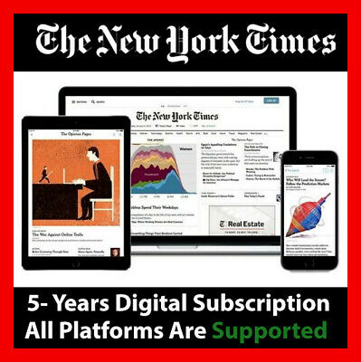 The New York Times 5-Year Digital Subscription All Platforms Region Free