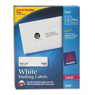 `Avery Easy Peel White Address Labels For Laser Printers (1 1/3`` X... ACC NEW