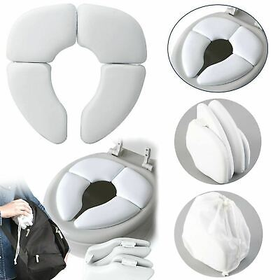 Baby Toddler Potty Cushion Kids Traveller Padded Toilet Training Folding Seat