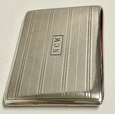 Antique A. Stowell & Co Boston Sterling SIlver Cigarette / Card Case FATHERS DAY