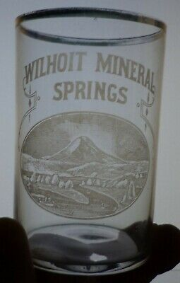 Rare Wilhoit Mineral Springs Etched Drinking Glass, Cascade Mountains, Oregon