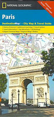 Street Map of Paris, France, by National Geographic Destination Maps