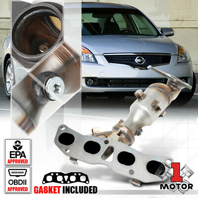Exhaust Manifold w// Catalytic Converter /& Gasket Install Kit for 07-12 Altima