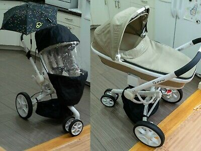 Quinny moodd Stroller Set - with bassinet, sun cover and two umbrellas.