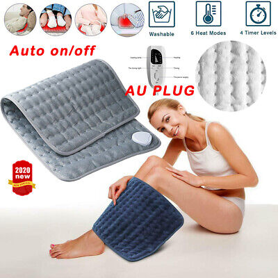Electric Heating Pad Heat Therapy Neck/Shoulder/Back Pain Relief With Auto Off