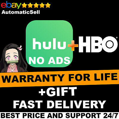 Hulu Premium + HBO + No Ads + Lifetime Warranty | Fast Delivery