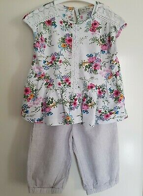 Beautiful Next Girls Summer Floral Outfit 2-3 Years VGC *Combine Postage*