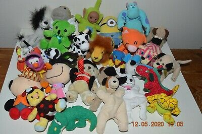JOB LOT SOFT TOYS Includes Sulley- Monkey PG Tips - Bagpuss-Disney-McDonalds>>>>