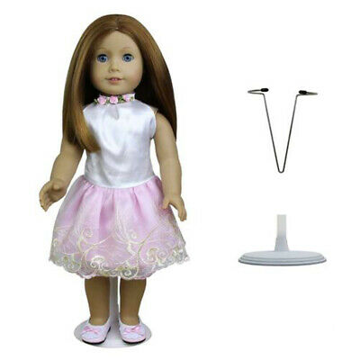 White Adjustable Doll Stand Display Holder Support Tool for 4-6inch Girl Dolls