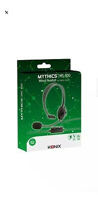 Xbox One Konix Mythics Ms-100 Chat Gaming Headset + Mic Control * New Boxed