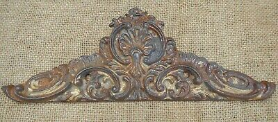 19Th C Salvage Ornate Cast Iron Tapestry Bell Pull Fitting~Decorative Wall Piece
