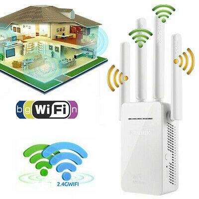 WiFi Extender Signal Range Booster Wireless 300Mbps Dual Band Network Repeater
