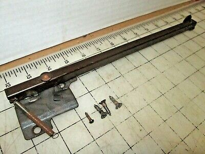 Singer Sewing Machine Cabinet Table Leaf Extension Support Arm & Screws- Brown