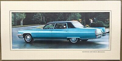 """CADILLAC Fleetwood 60 Special Brougham 1970 """"Turquoise"""" 17.5"""" x 8.75"""" Art Print"""