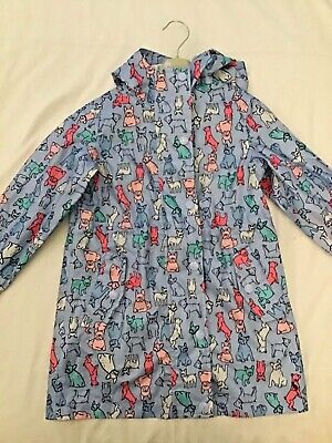 Joules Girls Raincoat Dog Design Blue Right as Rain Collection mint condition 3y