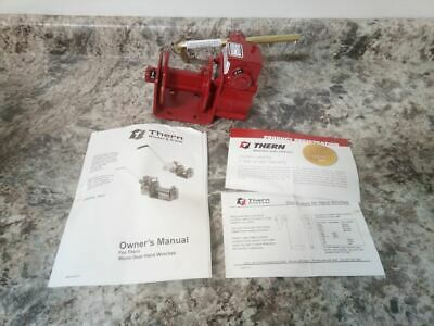 Thern 462 1000 Lb 1st Layer Load Cap Red Steel Hand Winch