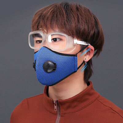 1X Face Mask Reusable with Breathing Valve Air Purifying Respirator Mouth Cover