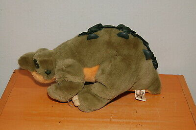 """13"""" Spike Dinosaur Plush Toy From The Land Before Time J.C. Penny 1988 Amblin"""