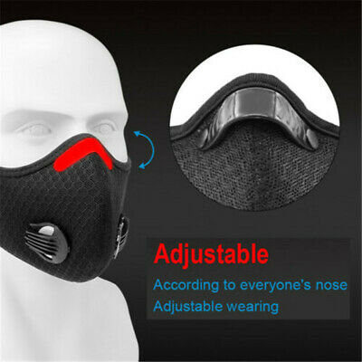 Activated Carbon Face Shield with filter Balaclava Bandana for Cycling Outdoor