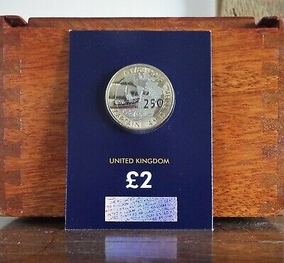 2018 Royal Mint Captain James Cook UK £2 Two Pound Brilliant Uncirculated Coin