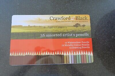*BRAND NEW* CRAWFORD AND BLACK 36 Assorted pencils