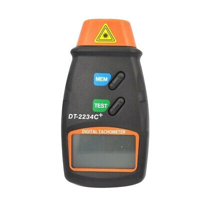 LCD Digital Tachometer Laser Photo Non- RPM Tach Meter Motor w Bag