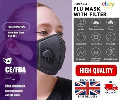 Anti Flu Face Mouth Cover Protection Filter Respirator-Breathable Washable