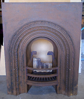 GENUINE AUTHENTIC Victorian Cast Iron Fire Place Fire Place Insert Original