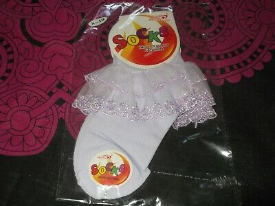 baby girls frilly socks ankle socks frilly romany 6-8 years