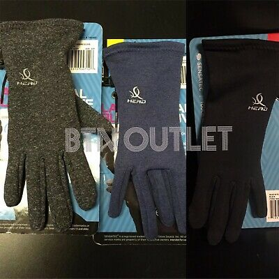 HEAD Sensatec Touchscreen Ladies Digital Running Gloves Medium Blue or Black