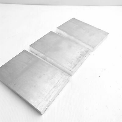 ".75"" thick  3/4  Aluminum 6061 PLATE  5.875"" x 7"" Long QTY 3  sku 175820"