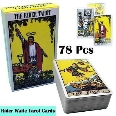 Vintage Rider Waite 78 Tarot Cards Deck Cards REGULAR Size with Instructions