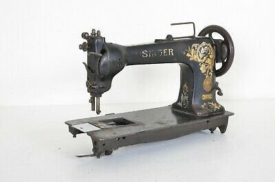 Vintage Singer Industrial Heavy Sewing Machine 12 W 102 Leather Upholstery Rare