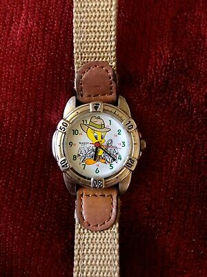 Vintage Tweety Bird Looney Tunes Collectible Armitron Watch RARE Preowned