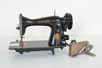 1953 Heavy Duty Singer 15 15-91 Sewing Machine With Pedal Unrestored