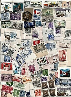 vintage MINT UNUSED FULL GUM CANADA Canadian postage stamps lot FH3 MNH