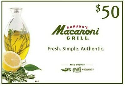 $100 Macaroni Grill Gift Card - 2 x $50 - Sent FAST via Message and Email