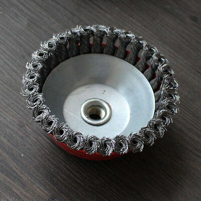 Rotary Brass Steel Wire Brush Crimp Cup Bevel Wheel Angle Grinder 65mm BZ2