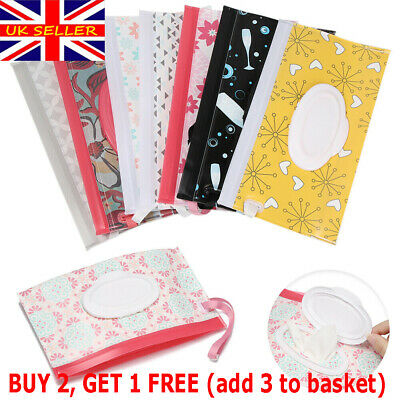 NEW Clean Carrying Case Wet Wipe Bag Home Trendy Pouch Wipes Container Baby~